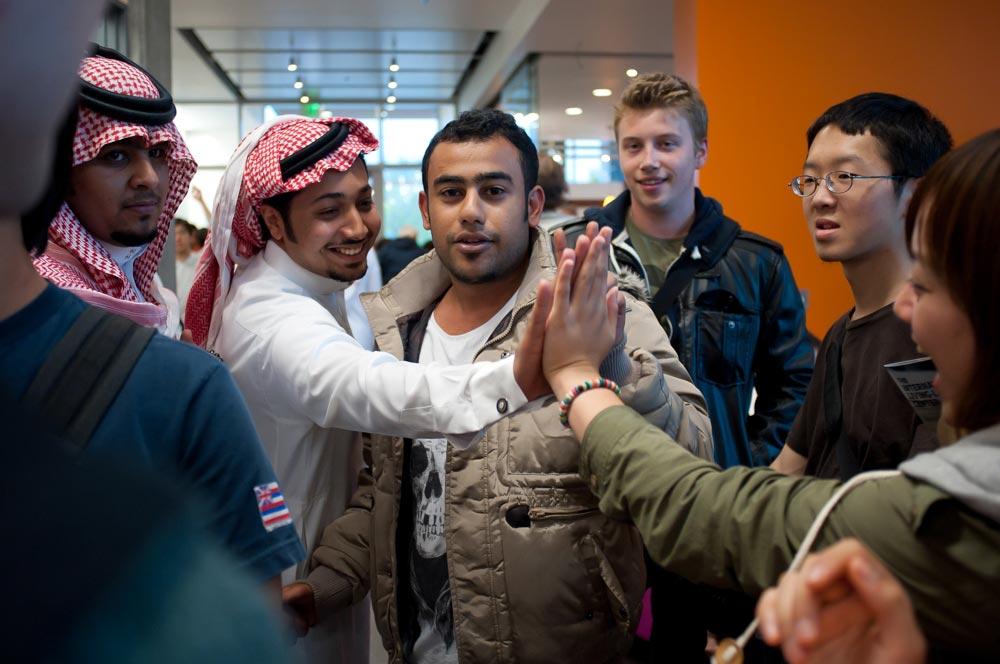International Students at OSU inside the International Living-Learning Center