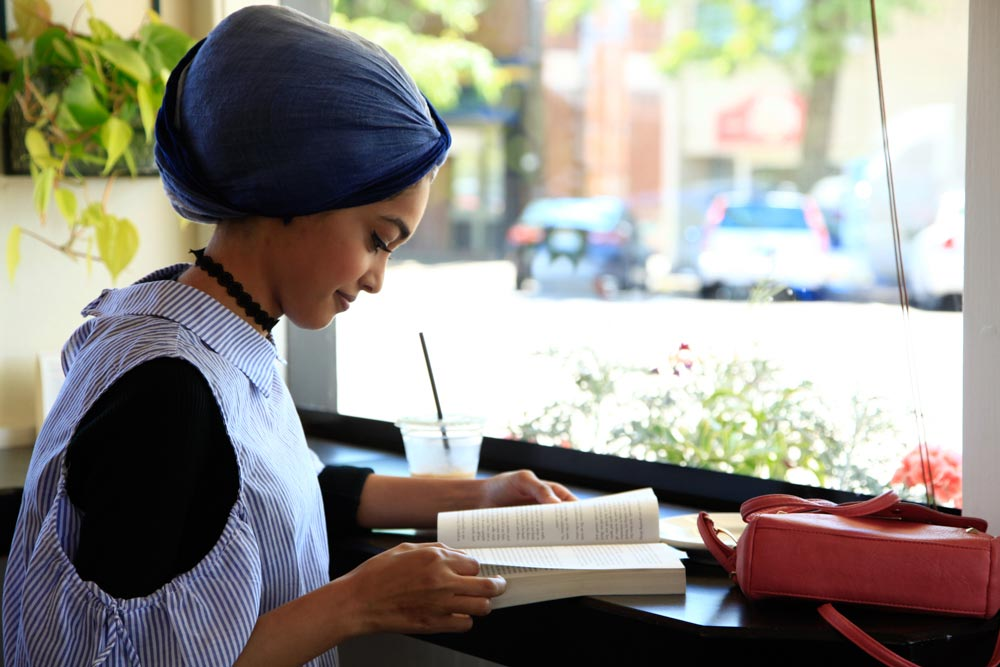 Person studying at local place in Corvallis, Oregon